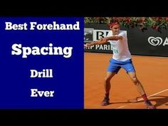 The Best Tennis Forehand Spacing Drill Ever - YouTube
