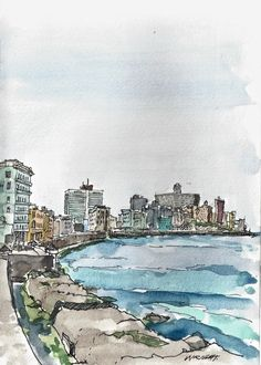 I'm just back home from a couple of weeks in Cuba. I spent most of the time in Havana and sketched every day as there were endless interest...