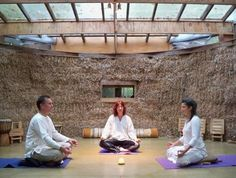 strawbale yoga studio