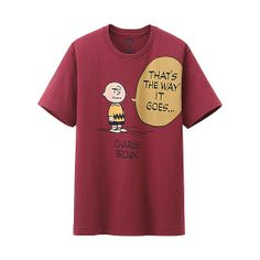 MEN Peanuts Graphic Short Sleeve T-Shirt Snoopy peanuts