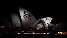 German design collective Urbanscreen projects images onto the sails of the Sydney Opera House at the opening night of the Vivid Festival in Sydney. Vivid Sydney, a festival of light, music and ideas, will run until June (Daniel Munoz/Reuters) Sidney Opera, Projection Installation, Projection Mapping, Art Installations, Festivals, Sound Art, Modern Metropolis, Renzo Piano, Festival Lights