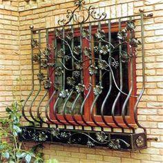 cast wrought iron metal bar iron windows grills design - wrought-iron