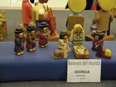 Nativity set from Georgia (country) - from travelocafe:  Nativity Scenes From Around The World