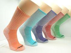 Womens Merino Wool Colorful Assorted Hiking Socks (3 PK) (Medium (Women's 5-9/Men's 4-8), Assortment 1(Royal Blue/Orange/Lime)) ** READ ADDIITONAL INFO @: http://www.best-outdoorgear.com/womens-merino-wool-colorful-assorted-hiking-socks-3-pk-medium-womens-5-9mens-4-8-assortment-1royal-blueorangelime/