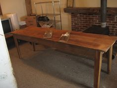Harvest Table as narrow kitchen island (8 ft by 28 inch unfinished)