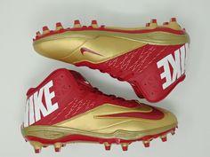 huge discount de2da b4a7c Nike Zoom Code Elite TD Mens Football Cleat Size 12 Red Gold San Francisco  49ers for sale online   eBay
