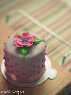 Flower & Dots Mini Cake