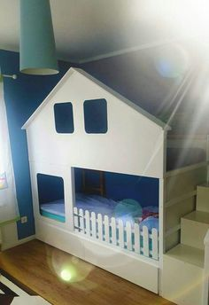 Most up-to-date No Cost Kura Bett Haus . - DIY Ideen Popular An Ikea youngsters' room remains to amaze the little ones, because they're provided far more th Kura Bed Hack, Ikea Kura Hack, Ikea Hacks, Cama Ikea Kura, Ideas Dormitorios, Bed Images, Ikea Bed, Baby Bedding Sets, Childrens Beds