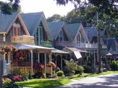 Martha's Vineyard, MA  Old Methodist camp houses on the island.