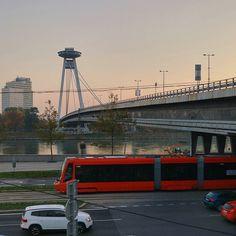 … Bratislava, Autumn, Fall, Golden Gate Bridge, Homeland, Ufo, Bridges, Transportation, Europe