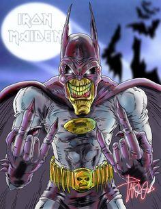 eddie maiden | Eddie - Iron Maiden OMG.. EDDIE is Batman.. hahahah