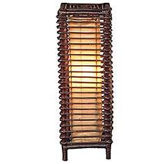"""Meridian Stained Rattan 24"""" High Table Lamp"""