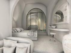 Villa Design, House Design, Greece Design, Resort Interior, Derelict Buildings, Hotel Architecture, One Bedroom Apartment, Design Awards, Interior Design