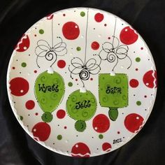 Personalized Christmas Ornament ceramic Plate!