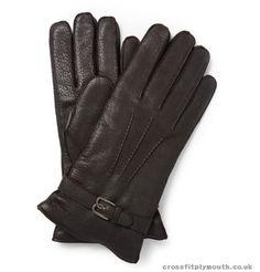 9T5B7Ez4S Berluti Men Gloves Cashmere-Lined Grained-Leather Gloves Dark  Brown