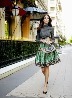 Excellent street fashion on a super skinny lady. Pinning for the  skirt jacket combo 327cbfaccbb