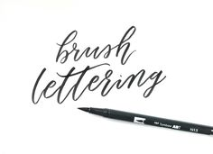 Brush Lettering Basics- A series via www.surelyismple.com