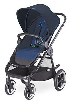 Cybex Balios M - Silla de paseo con capazo, desde el nacimiento hasta 17 kg, color azul marino