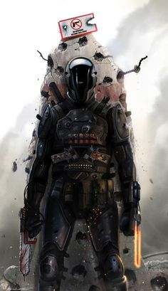 Cyberpunk, Future, Armor, Helmet, Futuristic Warrior, Military, Future Soldier, GABRIEL - by `DanLuVisiArt on deviantART