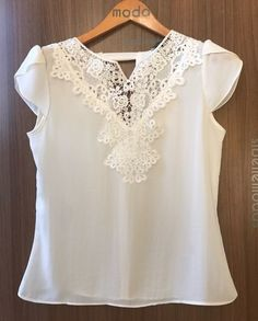 Tween Fashion, Girl Fashion, Fashion Dresses, Womens Fashion, Super Moda, Sewing Blouses, Blouse Vintage, Pretty Outfits, Blouse Designs