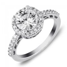 Halo Engagement Ring in Sterling Silver (2.35 ct. tw.)