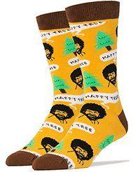 Wacky Wednesday on Amazon – Happy Trees Bob Ross Funny Socks
