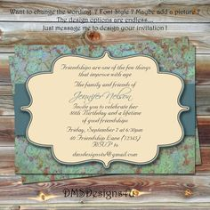 Adult Milestone Birthday Invitation 18th, 21st, 30th, 40th, 50th, 60th, 70th, 80th, 90th on Etsy, $10.95