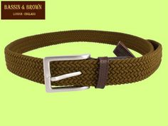 BASSIN & BROWN - WOVEN LEATHER BELT - MADE IN ENGLAND - COLOUR KHAKI GREEN http://www.bassinandbrown.com/