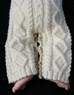 How to Knit a Gorgeous Baby Aran Body Suit