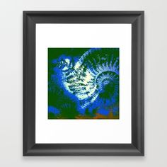 Ammonite Fossil Jungle Framed Art Print