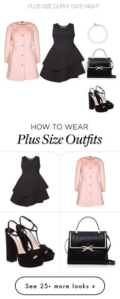 """""""Plus Size Curvy Date Night"""" by jessicasanderstx on Polyvore featuring Eloquii, Miu Miu, Tiffany & Co., City Chic, Kate Spade and plus size dresses"""