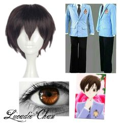 I like Ouran highschool host club, and Haruhi is one of my favorite characters. Costume Ideas, Costumes, Cosplay, Shoe Bag, Polyvore, Anime, Collection, Design, Women