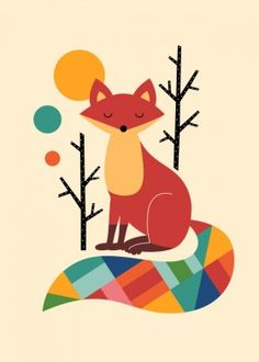 fox rainbow universe cute animals happy fun beautiful smile lovely cool