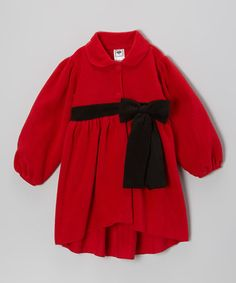 Take a look at this Red & Black Bow Jacket - Infant, Toddler & Girls by Mulberribush on #zulily today!