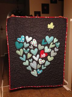 """Ashley's """"Envy the Ivy"""" Alpha Phi quilt for the Red Dress Gala"""