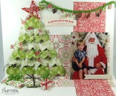 Christmas Scrap page -- 3 D ... cool!