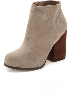 Cute #boots!  Jeffrey Campbell Hanger Suede Booties women's fashion shoes