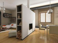 Verdeel de ruimte met een kast, muur of gordijn.