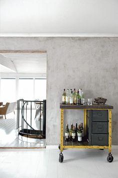 Gorgeous Villa in White and Grey ♥ Прекрасна вила в бяло и сиво | 79 Ideas  love the bar cart!!