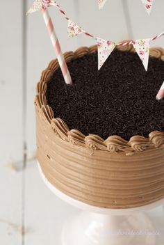 Chocolate nutella cake with french buttercream ♥