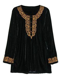 20b28e911a5 Beautiful La Cera Women s Velvet Top Plus Size womens fashion clothing.    54  newforbuy