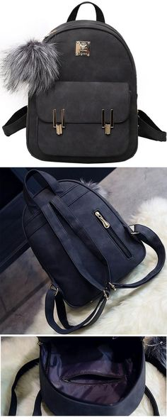 Fashion Frosted PU Zippered School Bag With Metal Lock Match Backpack for  big sale!   fa765809984a6