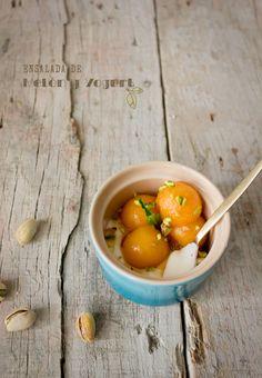 Ensalada de Melón y Yogurt. Postre Saludable, por Chokolat Pimienta