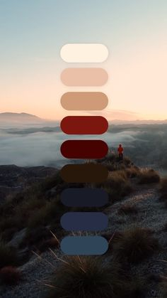 Color Palette: The Mountains Are Calling Red Color Schemes, Red Colour Palette, Color Combos, Foto Website, Website Color Palette, The Mountains Are Calling, Color Harmony, Colour Board, Behr