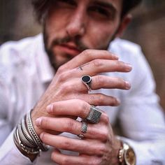 FRIDAY MOOD @andreamelchiorre1 wearing his collection #andreamelchiorrejewels  view the collection at http://ift.tt/2lAEHXH  #silver #silver925 #seven50 #seven50jewels #sevenfifty #750 #jewelry #jewels #jewel #fashion #rings #rings #trendy #accessories #love #beautiful #ootd #fashion #style #madeinitaly #italy #accessory #stylish #fashionjewelry #am1xseven50 #andreamelchiorrejewels