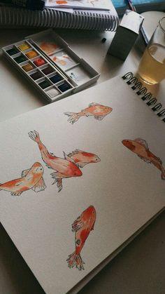 – Number One Drawing Sketchbook Inspiration, Painting Inspiration, Sketchbook Ideas, Gouache Painting, Painting & Drawing, Pretty Art, Cute Art, Art Inspo, Arte Sketchbook