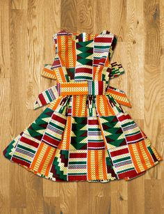 - Children's Dress, Children's African Print Gathered Dress with Belt with Optional Matching Alice Band African Dresses For Kids, Latest African Fashion Dresses, African Print Dresses, African Print Fashion, African Wear, African Attire, Fashion Prints, Mode Batik, African Clothing Stores