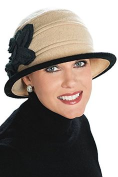ecae50602cf Wool Eliza Cloche Hat for Women - Cancer Hats