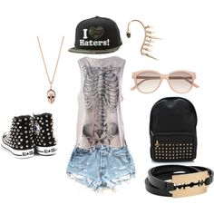 rock chic by iasemin1987 on Polyvore