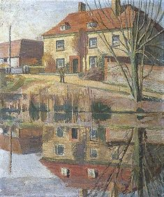 """Charleston, East Sussex"" by Vanessa Bell (1879-1961, United Kingdom)"